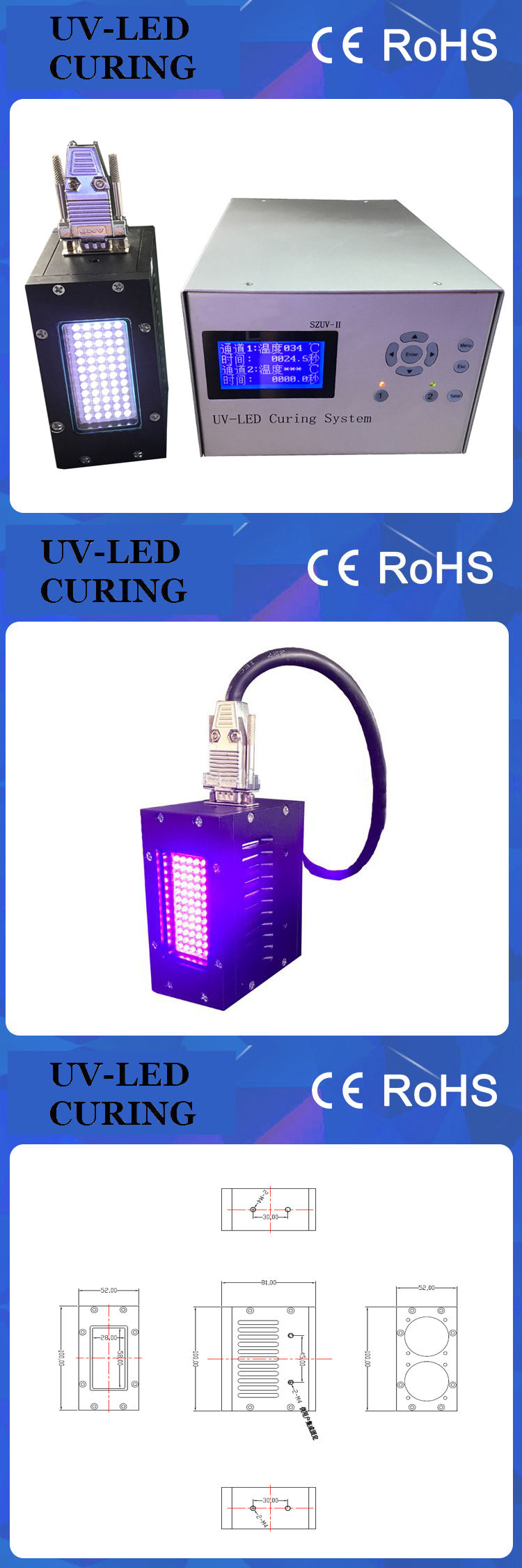Portable UV Coating Curing Machine